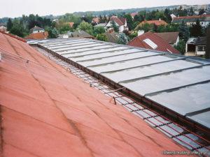ogrzewanie dachu kablami grzejnymi