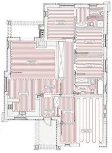 schemat elektrycznego ogrzewania podłogowego